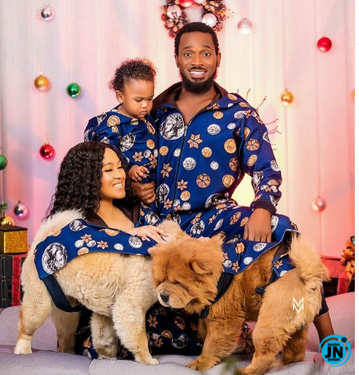 Their carelessness made them lose their child' -Troll reacts to Dbanj's  family photoshoot for Christmas | JustNaija